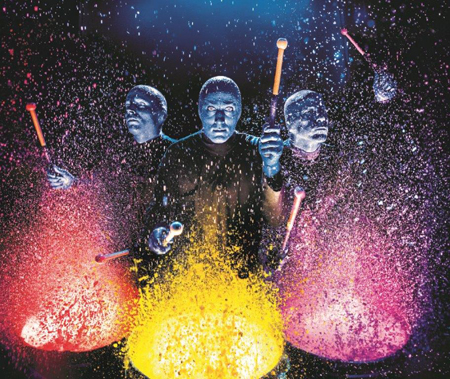 Blue Man Group. The only show as colorful as life