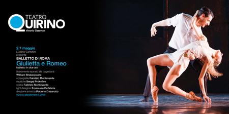 Giulietta e Romeo, il balletto ispirato alla tragedia di William Shakespeare al Teatro Quirino