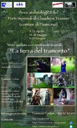 La Terra del Tramonto Visita teatrale al Porto di Traiano