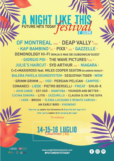 A Night Like This Festival, annunciata la lineup completa del festival a Chiaverano