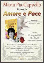 Amore e Pace, il libro di Maria Pia Cappello al Complesso dei Dioscuri del Quirinale