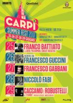 Carpi Summer Fest 2017. La seconda edizione del festival dell'estate emiliana