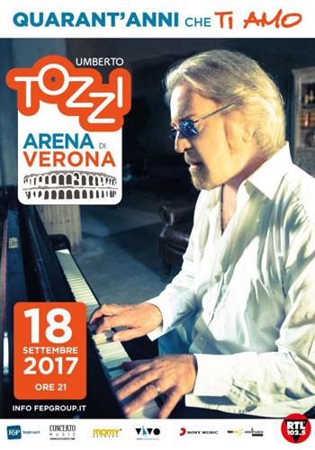 Umberto Tozzi, 40 Anni che ti amo, all'Arena di Verona