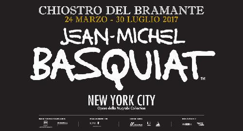 Jean-Michel Basquiat al chiostro del Bramante di Roma