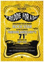 Hard Rock Cafe e Universal Music Italia celebrano il 71esimo compleanno di Freddie Mercury