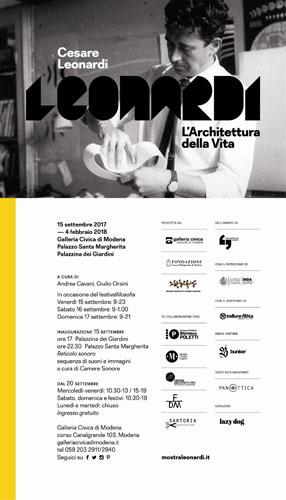 Cesare Leonardi. L'Architettura della Vita, la mostra alla Galleria Civica di Modena