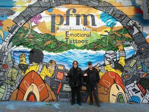 PFM, rivelata in un murales a Milano la cover dell'album Emotional Tattoos