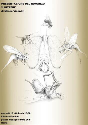 I ditteri, il romanzo di Marco Visentin. La presentazione alla libreria Equilibri di Roma