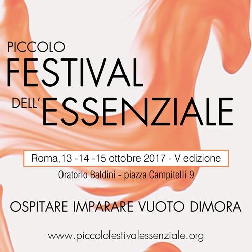 Piccolo Festival dell'Essenziale, al via la V edizione