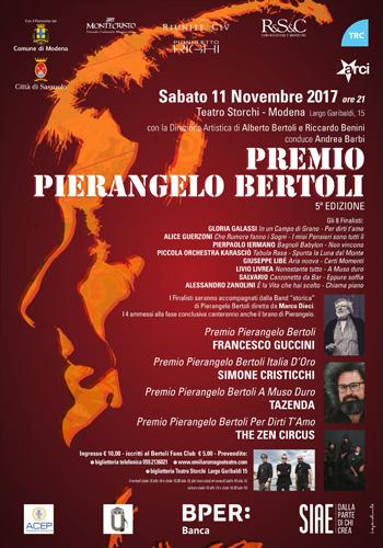 Premio Pierangelo Bertoli 2017 assegnato al cantautore Francesco Guccini