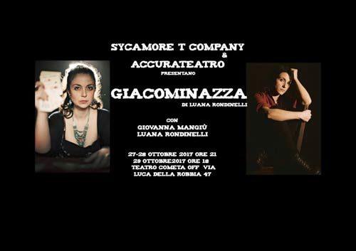Giacominazza, lo spettacolo con  Luana Rondinelli e Giovanna Mangiù al Teatro Cometa Off di Roma