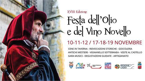 Al via la Festa dell'Olio e del Vino Novello (XVIII edizione, Vignanello) – il programma del primo WE