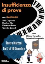 Insufficienza di prove, una commedia musicale con i Baraonna al Teatro Roma