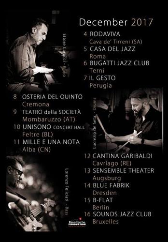 Lucrezio de Seta Trio. European Tour in Italia, Germania, Belgio