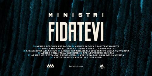 Ministri, Fidatevi è il titolo del nuovo album in uscita a marzo per Woodworm e del nuovo Tour