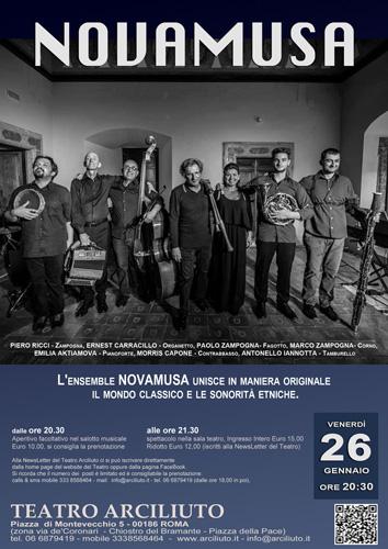 Novamusa in concerto al Teatro Arciliuto di Roma