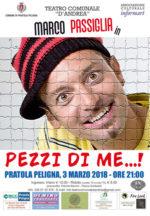 Il 3 marzo al Teatro d'Andrea di Pratola Peligna il sipario si alza su Marco Passiglia
