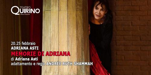Memorie di Adriana in prima nazionale al Teatro Quirino di Roma