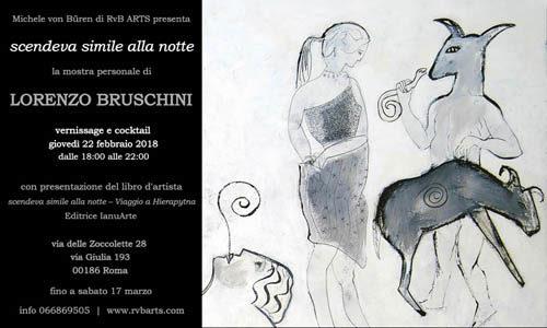 Scendeva simile alla notte la mostra personale di Lorenzo Bruschini