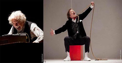 Glauco Mauri e Roberto Sturno in En Attendant Beckett al Teatro Palladium di Roma