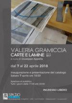 Allo Spazio COMEL: Valeria Gramiccia. Carte e Lamine 2016 – 2017