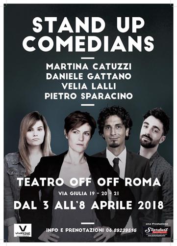 Stand up comedians, lo spettacolo in scena all'OFF OFF THeatre di Roma