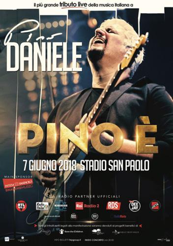 PINO È allo Stadio San Paolo di Napoli il tributo live della musica italiana a Pino Daniele