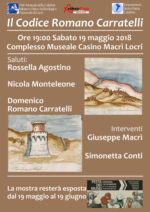 Il Codice Romano Carratelli al Museo e Parco Archeologico Nazionale di Locri