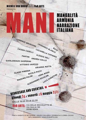 MANI, la mostra collettiva alla RvB Arts di Roma