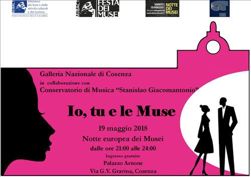 Io, tu e le Muse, l'appuntamento con la Notte europea dei Musei alla Galleria Nazionale di Cosenza