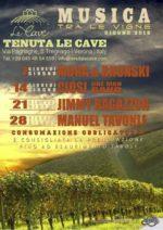 """Rassegna """"Musica tra le vigne"""" alla tenuta Le Cave – L'american Music Di A-Z Blues si unisce all'ottima eno-gastronomia italiana"""