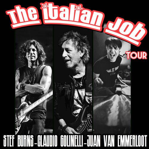 The Italian Job Tour con Stef Burns-Claudio Golinelli-Juan Van Emmerloot