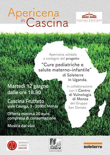 """SOLETERRE, apericena solidale a Monza per sostenere il progetto in Uganda """"Cure pediatriche e salute materno-infantile"""""""