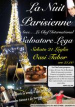 """""""La Nuit Parisienne"""" all'Oasi Tabor con il concerto di Lindita Lantus e Alessandro Gazza e il menù dello chef internazionale Salvatore Lega"""