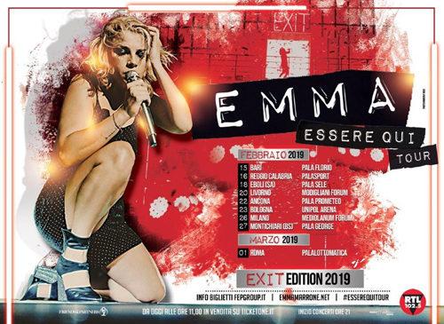 Emma: torna a febbraio nei palasport d'Italia con Essere qui tour
