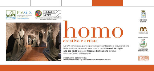 Homo in Arte- Creativo ed artista al Museo Civico Città di Cave-sezione Lorenzo Ferri
