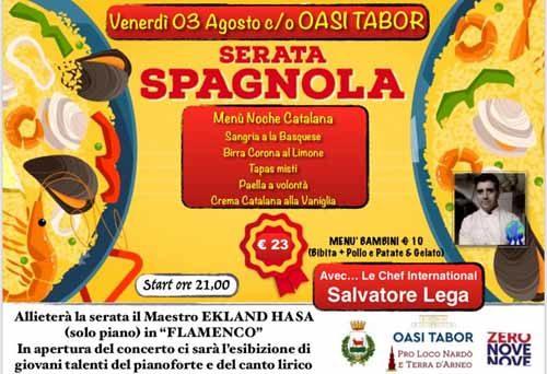 La Noche Catalana all'Oasi Tabor con il concerto del pianista Ekland Hasa e il menù dello chef internazionale Salvatore Lega