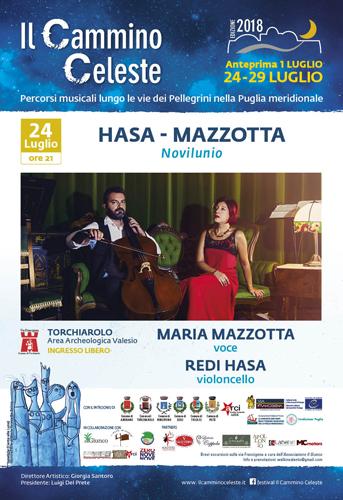 Il duo Hasa-Mazzotta alle Terme di Valesio per presentare Novilunio