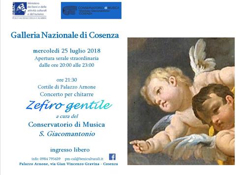 Zefiro gentile alla Galleria Nazionale di Cosenza