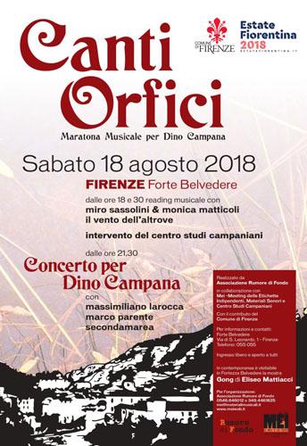"""Secondamarea in concerto a Firenze in occasione del """"Canti Orfici in Musica per Dino Campana""""!"""