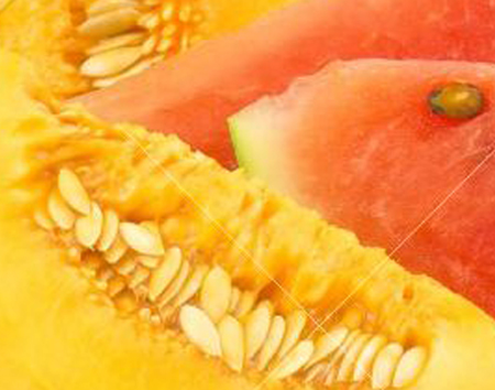 Centrifuga di melone e cocomero per rimanere in forma