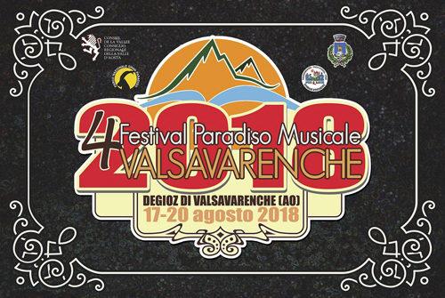 4° Festival Paradiso Musicale – dal 17 al 20 Agosto 2018 a Valsavarenche – Aosta