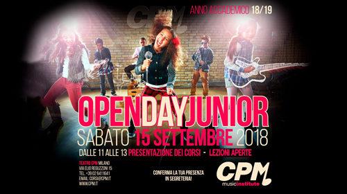 Open Day Junior al CPM Music Institute di Milano, giornata di orientamento per visitare la scuola di Franco Mussida