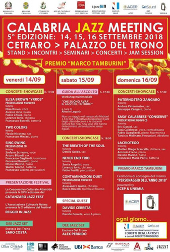 Calabria Jazz Meeting, al via a Cetraro