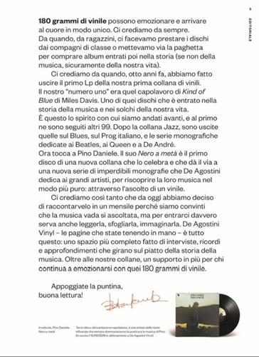 De Agostini Vinyl, il mensile dedicato al vinile approda in edicola. Il primo numero sarà dedicato a Pino Daniele