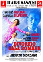 Divorzio alla romana, lo spettacolo in scena dal 4 al 28 ottobre al Teatro Manzoni di Roma