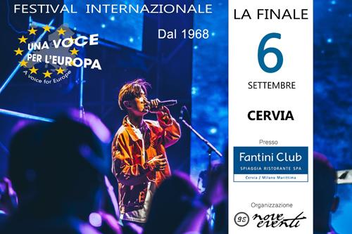 Finale festival Una Voce per l'Europa @ Fantini Club, Cervia