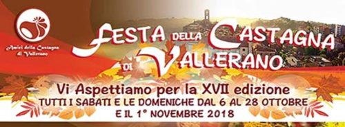 La Festa della Castagna di Vallerano: al via dal 6 ottobre la XVIIesima edizione