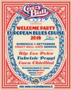 Opening party per l'European Blues Cruise 2018 il 9 settembre al Crazy Bull di Genova