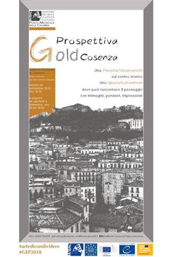 Prospettiva Gold Cosenza per le Giornate Europee del Patrimonio a la Galleria Nazionale di Cosenza